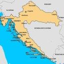 이탈리아 지도 크로아티아 지도