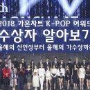 2018 가온차트 K-POP 어워드 수상자 알아보기 (올해의 신인상부터 올해의 가수상...