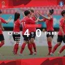 여자 축구 한국 대만, 지소연외 4골로 2018 아시안게임 여자축구 영광의 동메달