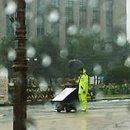 태풍 속 1인 시위 장애인과 경찰, 진정한 민중의 지팡이