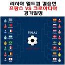 월드컵결승.프랑스와 크로아티아 양 팀 주요사항 확인하세요.