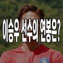 대한민국 국가대표 축구선수 이승우 연봉은?
