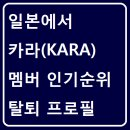 일본에서 카라(KARA) 멤버 인기순위 탈퇴멤버 프로필