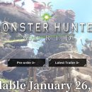 [PS4] 몬스터 헌터 : 월드 18년 1월 26일 발매 예정 및 한국어지원 업데이트