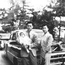 장남 신동주를 안고 있는 신격호와 하츠코, 1950년대