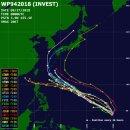 2018년 25호 태풍 콩레이 전망과 북서태평양 태풍 경로 예상