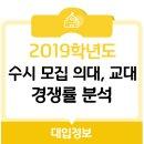 [2019 수시] 2019학년도 수시 모집 의대, 교대 경쟁률 분석
