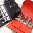 캐쳐, Coin Catcher, Japanese coin purse, Japanese wallet - 블랙, 다홍빛 주황