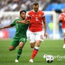 러시아 사우디 2대 0 러시아 개막첫골 가진스키 체리세프 전반종료