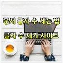 글자 수 세기 사이트 / 문서 글자 수 세는 방법