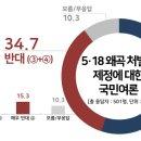 [정치] 5·18 폄훼 국회의원 처벌, 왜곡 처벌법 제정에 관한 여론조사