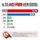 HCN방송에서 6.13 서초구청장 여론조사 결과를 발표했습니다. 서초구청장 후보 조은희