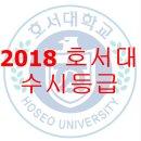 2018 호서대학교 수시등급 및 변경사항