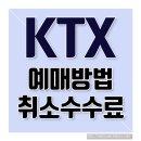 KTX 예매방법 & KTX 예매취소 수수료