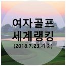 여자골프 세계랭킹(2018.7.23.기준) - 박인비 역대 3위