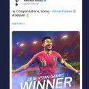 손흥민 토트넘 축하 트위터