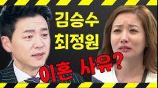 탤런트 김승수 - 최정원 나이? 이혼 사유?