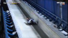 [월드컵 4차] 치명적인 실수로 역전당하는 마르틴스 두쿠르스 IBSF 월드컵 (봅슬레이, 스켈레톤) 64회