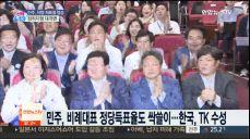 민주, 비례대표 정당득표율도 싹쓸이..한국, TK 수성