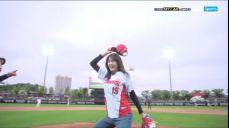 [NC vs KIA] 배구선수 이다영의 시구와 섹시댄스 2018 SBS 진짜야구 371회