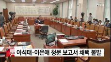 국회 법사위, 이석태·이은애 청문 보고서 채택 불발