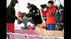 윤성빈 3차 트랙신기록! 스켈레톤 경기장 함성폭발!