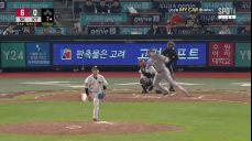수원 7회초 로맥-김동엽