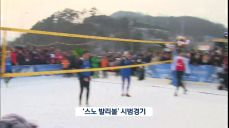 눈위에서 즐기는 배구 '스노우 발리볼' 첫 시범경기