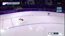 [영상][여자 스피드스케이팅 1,000m] 막판 스퍼트로 좋은 성적을 낸 다카기 미호